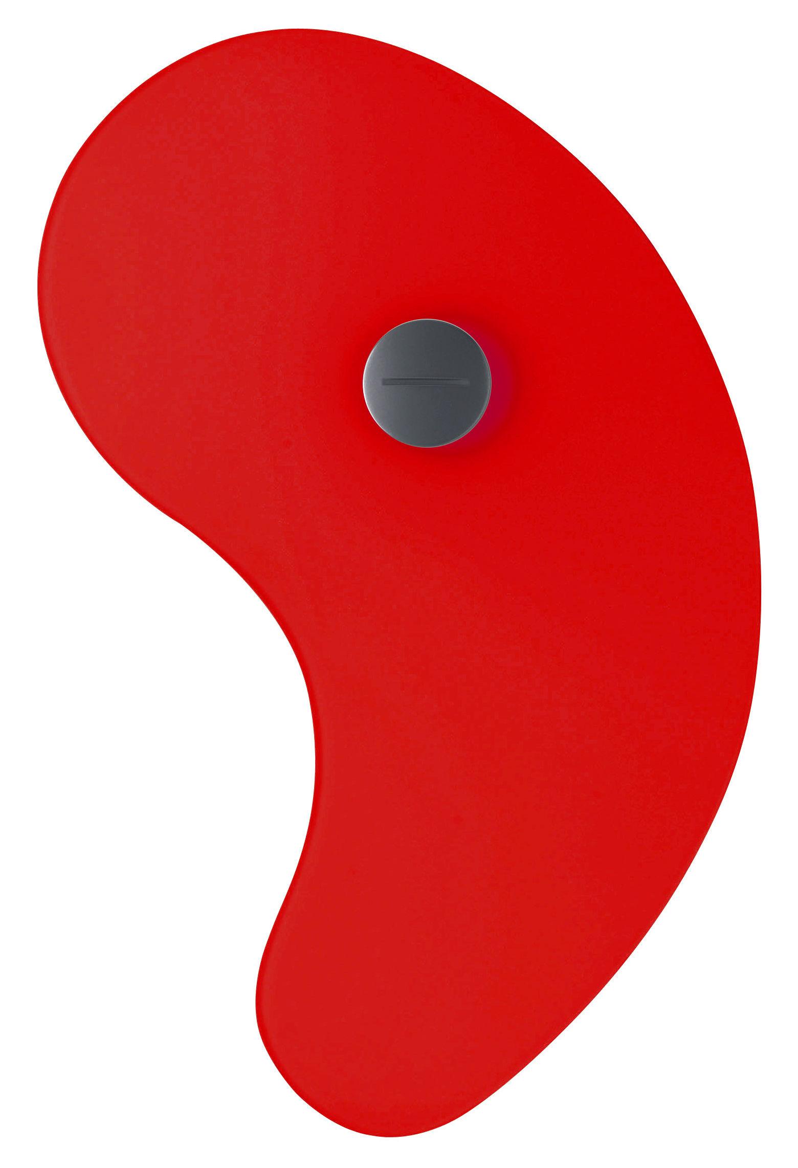 Leuchten - Wandleuchten - Bit 1 Wandleuchte mit Stromkabel - Foscarini - Rot - Glas, Metall