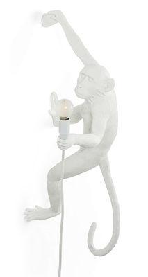 Monkey Hanging Wandleuchte mit Stromkabel / Indoor - H 76,5 cm - Seletti - Weiß