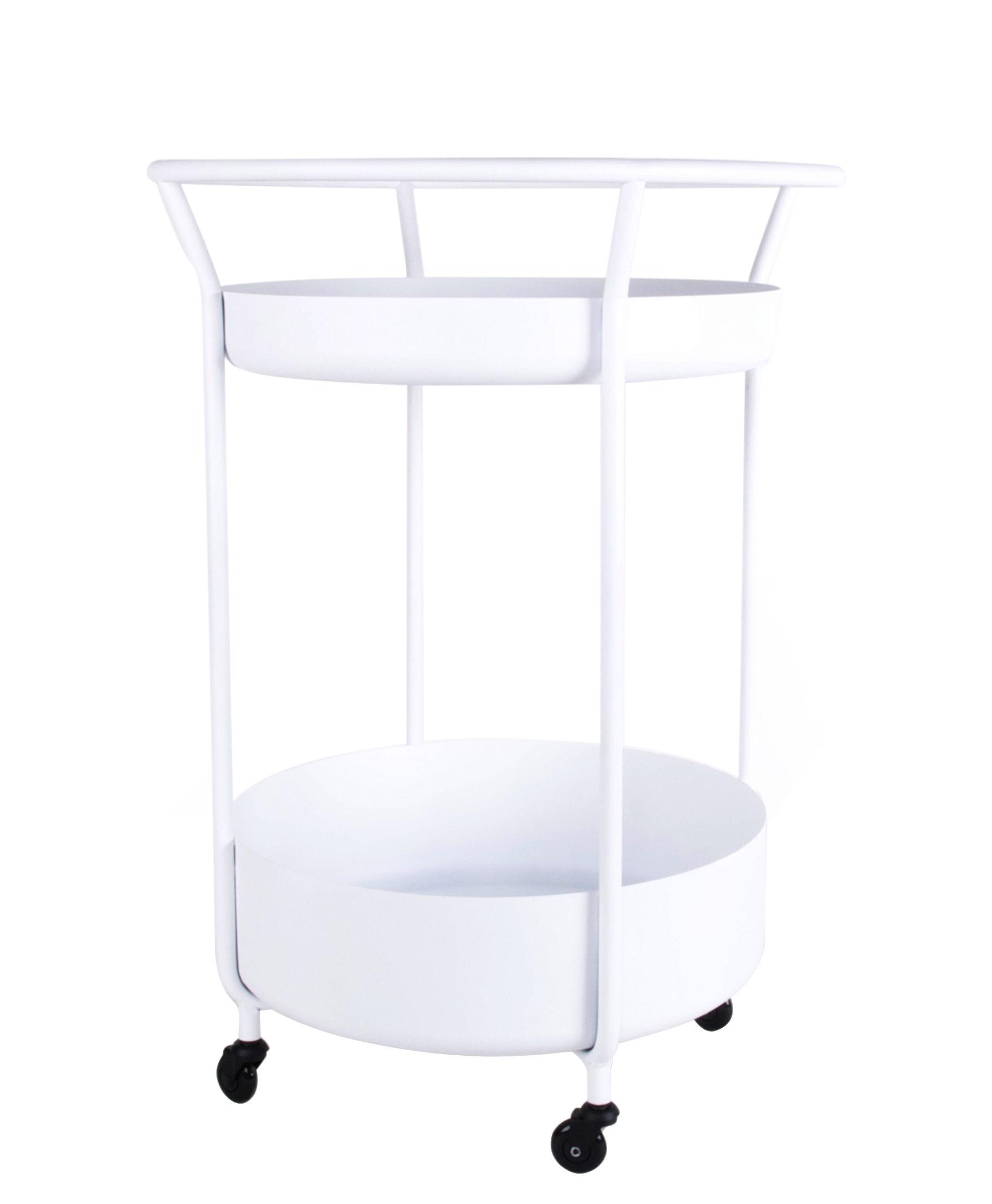 Möbel - Beistell-Möbel - Corona Ablage / Stahl - XL Boom - Weiß - Acier laqué époxy