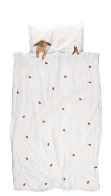 Image of Set biancheria da letto Furry friends / 1 persona - 140 x 200 cm - Snurk - Bianco/Marrone - Tessuto
