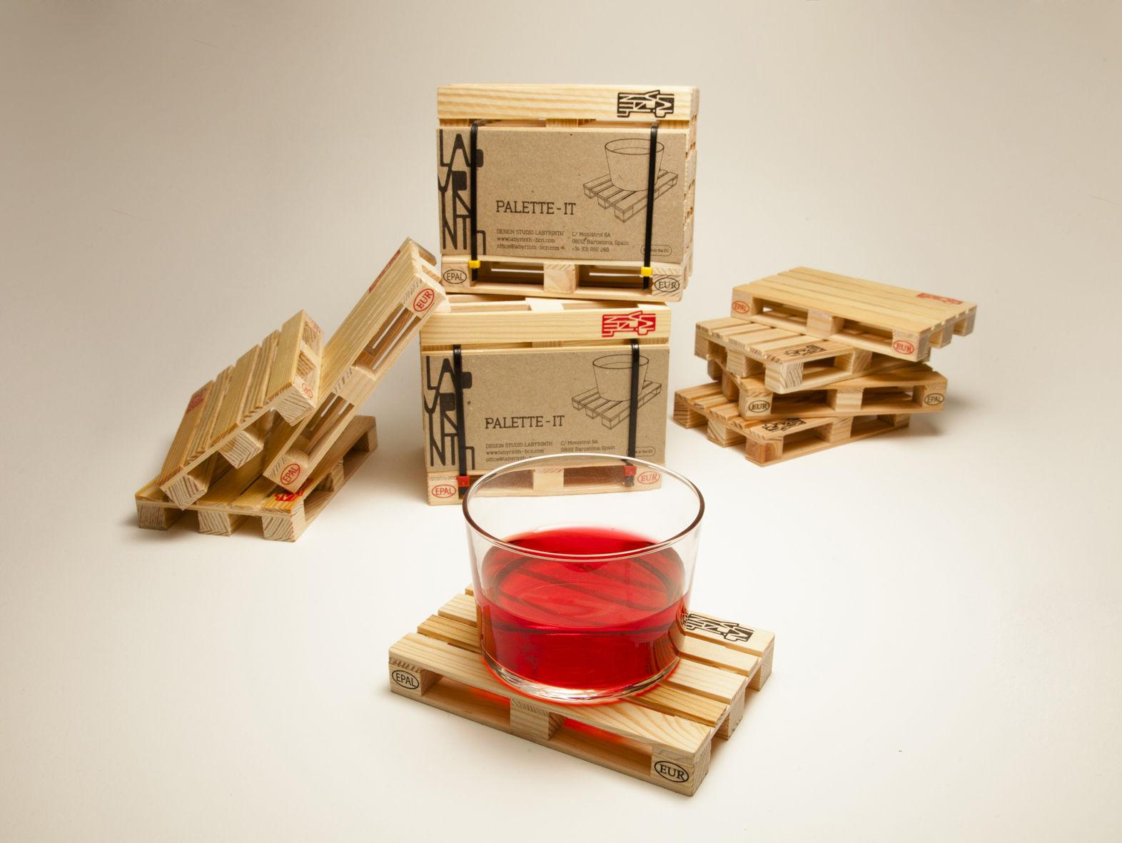 dessous de verre palette it pa design bois naturel. Black Bedroom Furniture Sets. Home Design Ideas