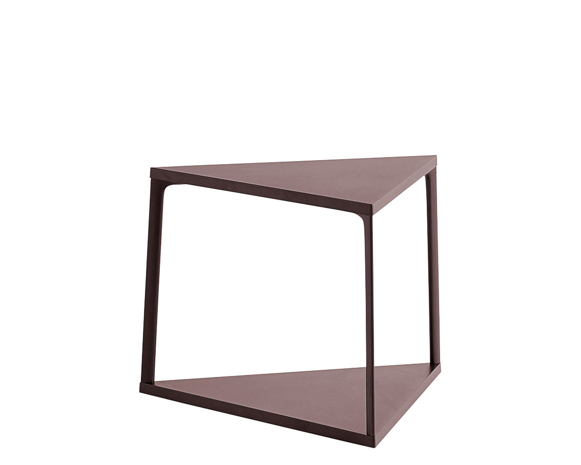 Furniture - Coffee Tables - Eiffel End table - / Triangle - L 52 x H 38 cm by Hay - Dark brick - Lacquered aluminium, Lacquered MDF