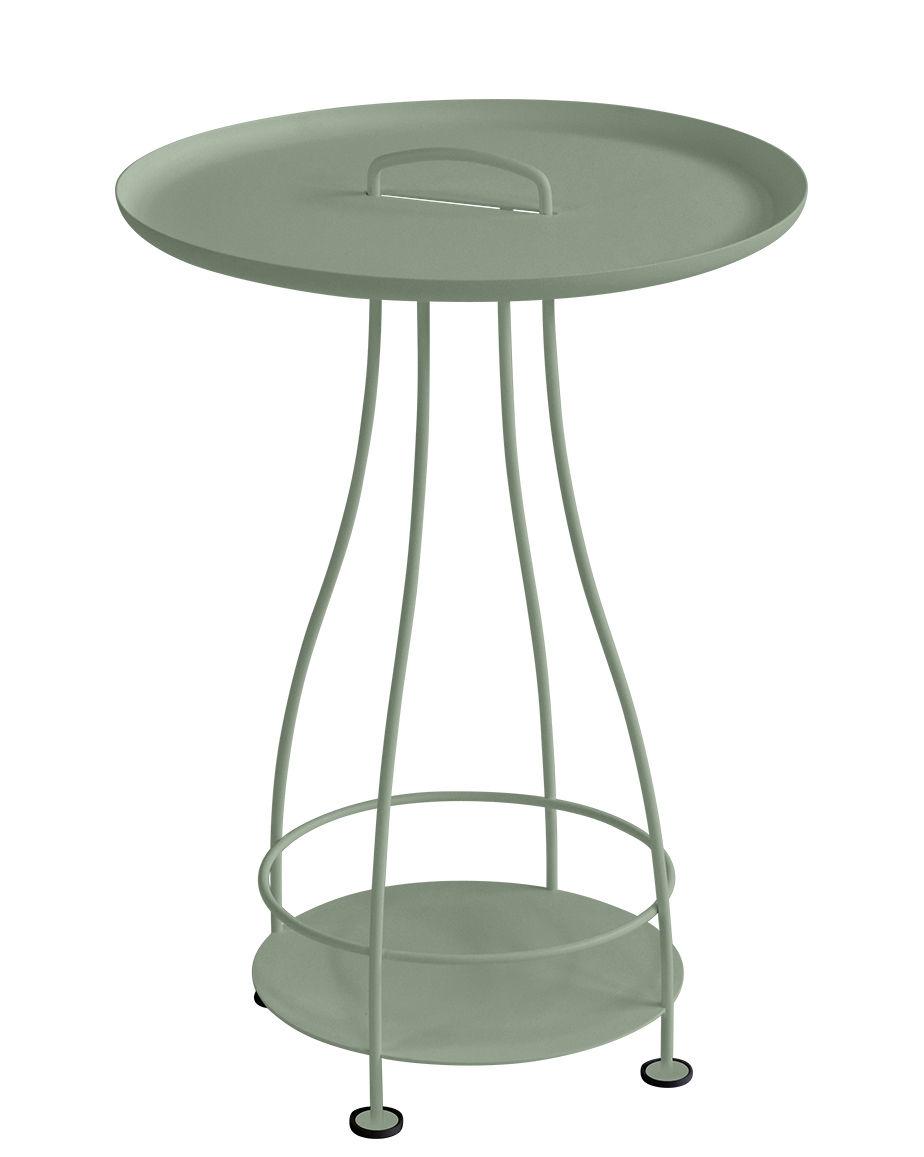 Mobilier - Tables basses - Guéridon Happy Hour / Ø 44 x H 64 cm - Plateau amovible - Fermob - Cactus - Acier, Aluminium