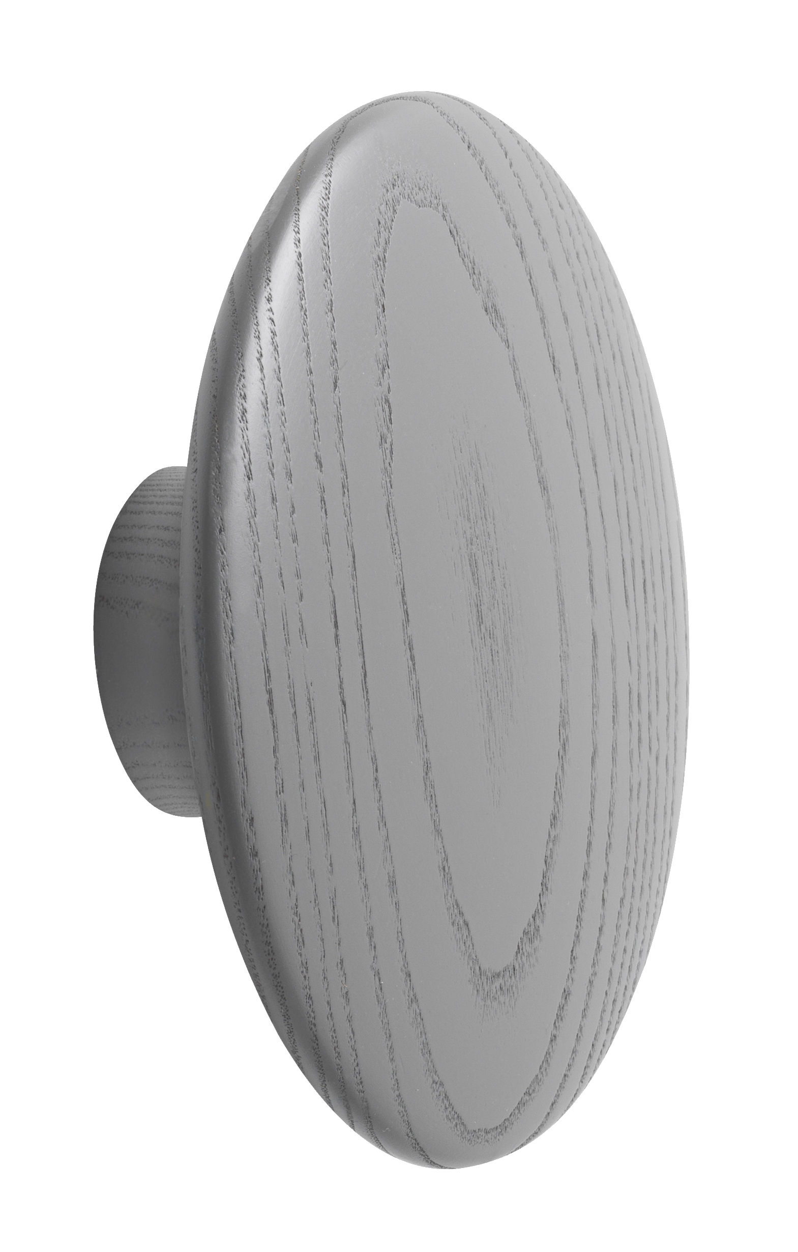 Furniture - Coat Racks & Pegs - The dots Hook - Large - Ø 17 cm by Muuto - Dark grey - Tinted ashwood