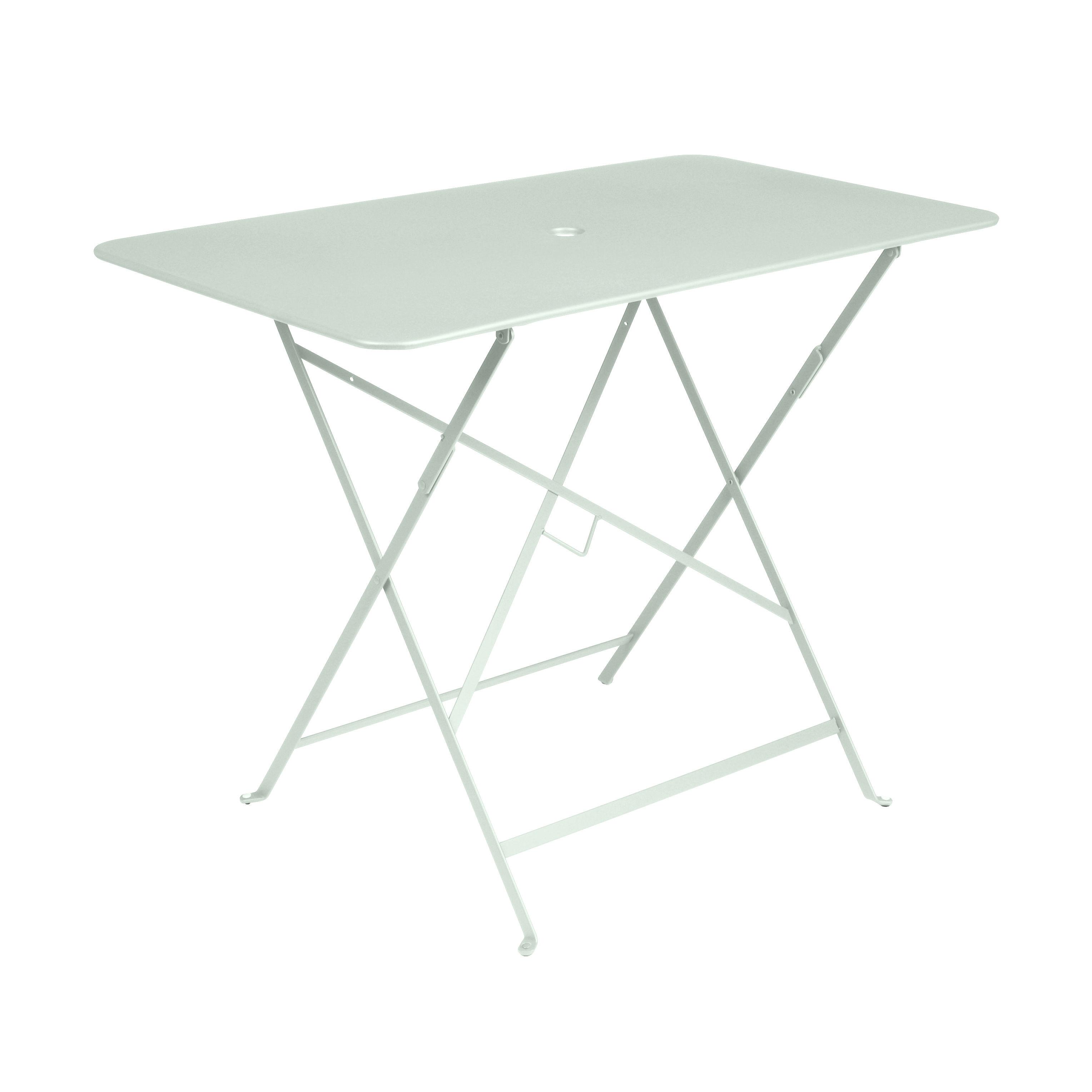 Outdoor - Tische - Bistro Klapptisch / 97 x 57 cm - 4 Personen - Sonnenschirm-Loch - Fermob - Gletscherminze - lackierter Stahl