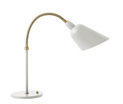 Luminaire - Lampes de table - Lampe de table Bellevue / by Arne Jacobsen - Réédition 1929 - &tradition - Blanc & Laiton - Aluminium laqué, Laiton