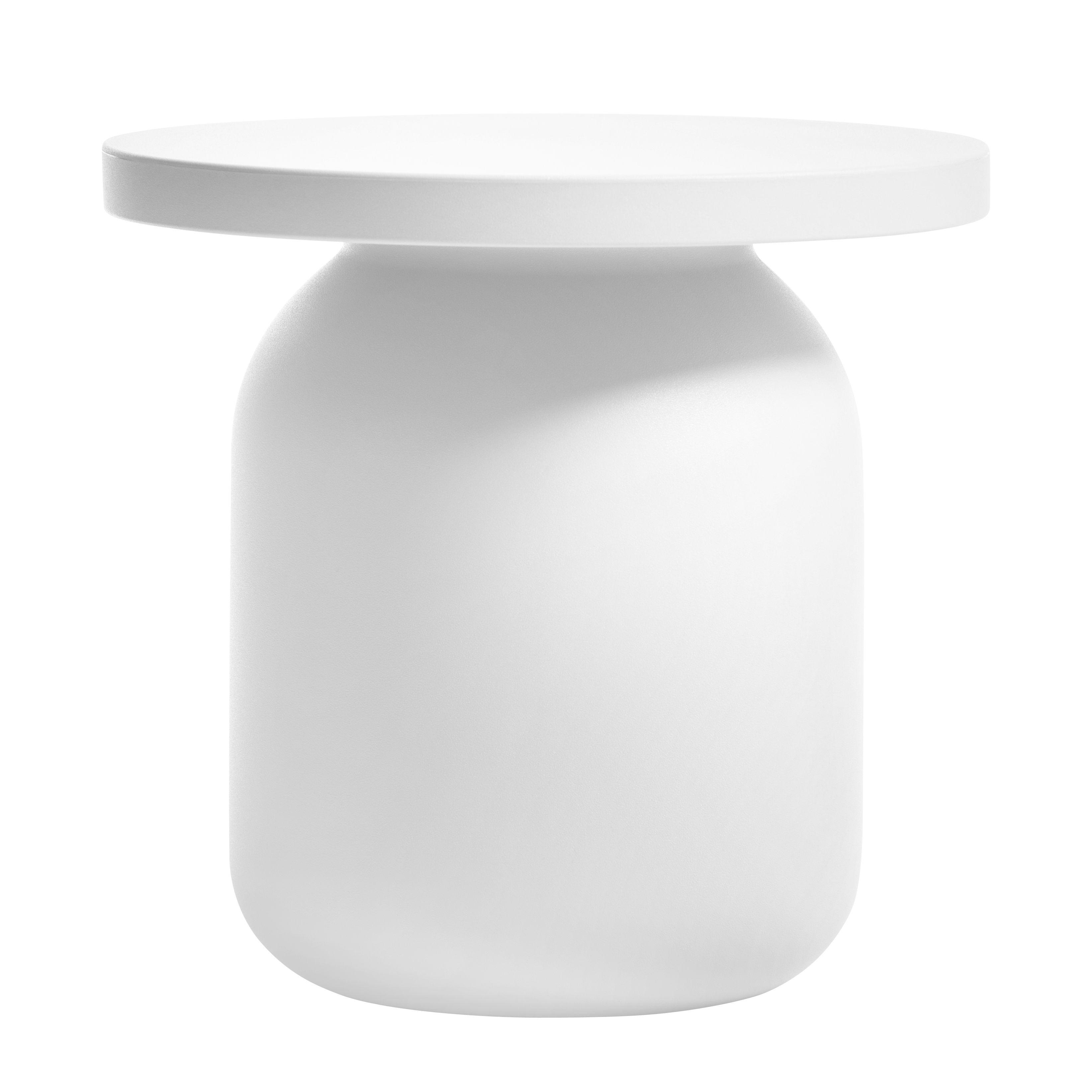 Furniture - Coffee Tables - Juju Luminous low stool - LED RGB - Wireless by Serralunga - White - Polythene