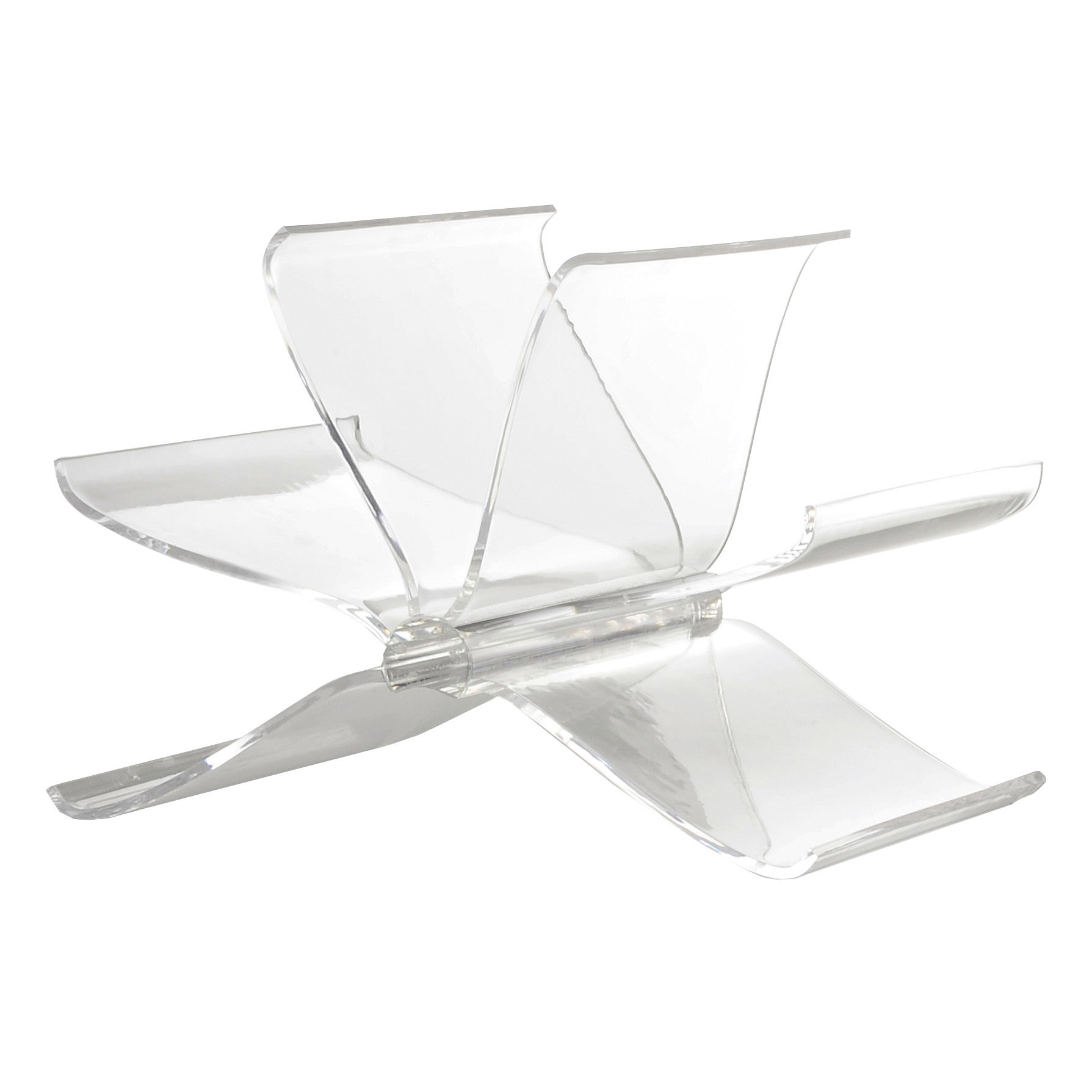 Decoration - Boxes & Baskets - Front Page Magazine holder by Kartell - Cristal - PMMA