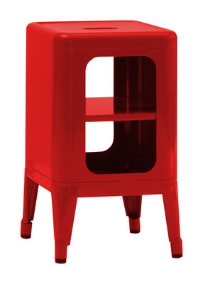 Mobilier - Etagères & bibliothèques - Meuble de rangement / H 50 cm - Acier laqué - Tolix - Piment - Acier recyclé laqué