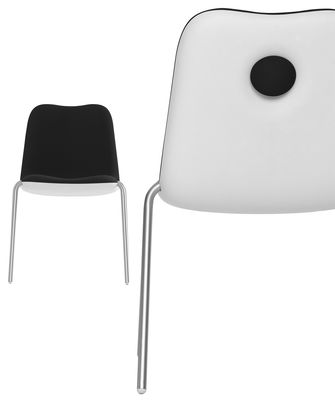 Furniture - Chairs - Boum Padded chair by Kristalia - Black - Anodized aluminium, Fabric, Polypropylene