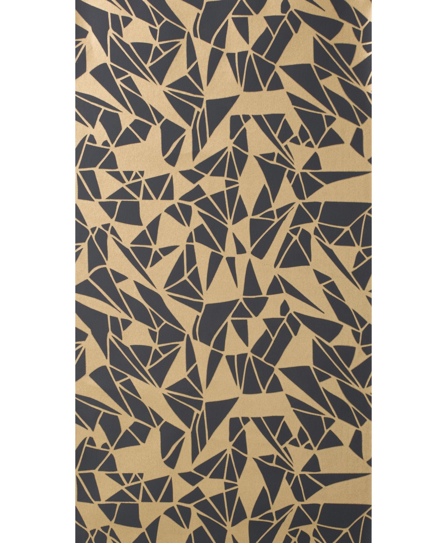 Papier Peint Monroe 1 Rouleau Larg 53 Cm Noir Or Ferm Living