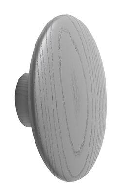Mobilier - Portemanteaux, patères & portants - Patère The Dots Wood / Large - Ø 17 cm - Muuto - Gris foncé - Frêne teinté