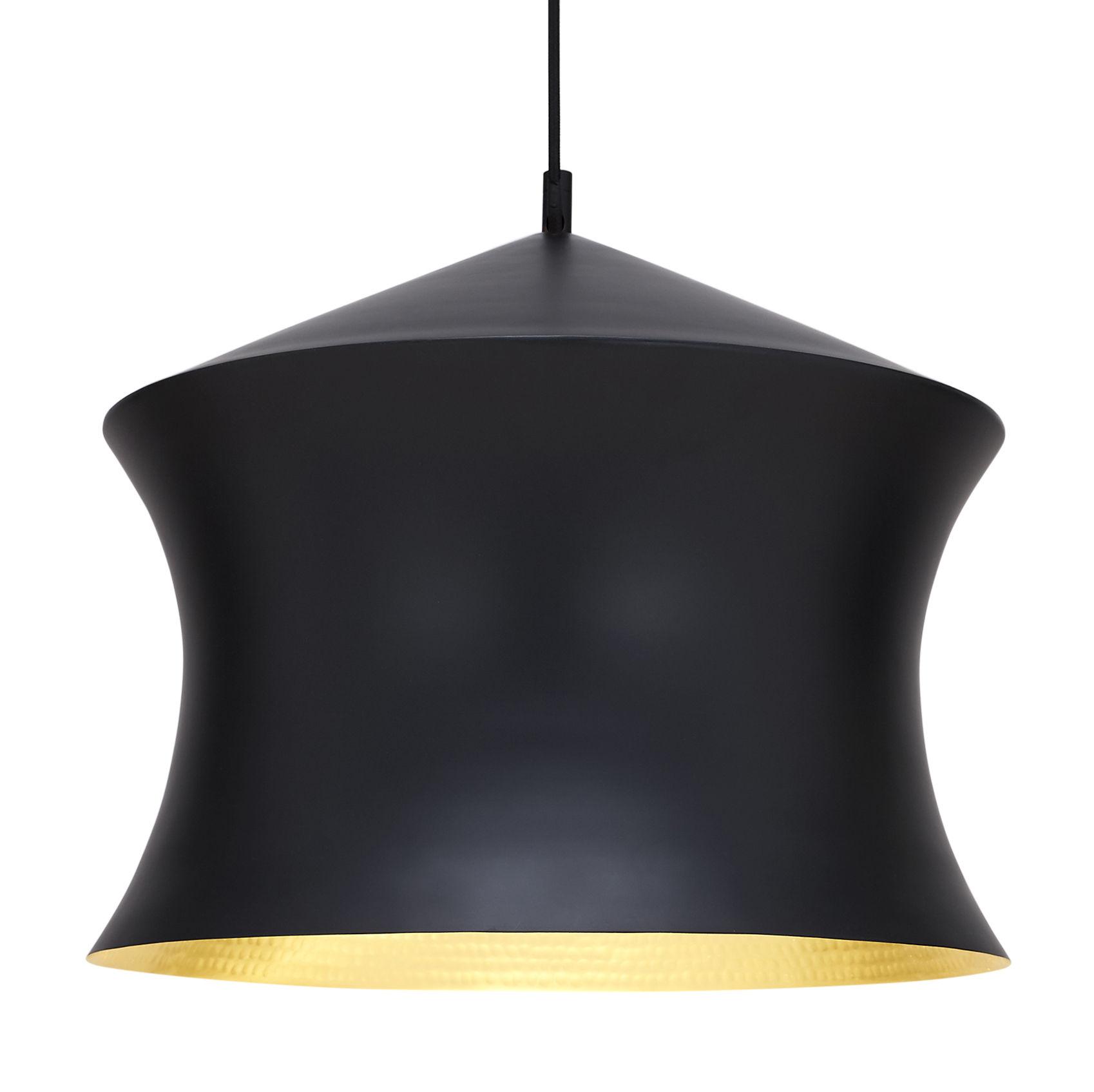 Lighting - Pendant Lighting - Beat Waist Pendant - Ø 33 x H 41 cm by Tom Dixon - Black / gold - Brass