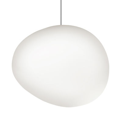 Lighting - Pendant Lighting - Gregg Midi LED Pendant - / Glass by Foscarini - L 21 cm / White - Blown glass