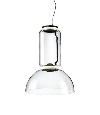 Noctambule Dôme n°1 Pendelleuchte / LED - Ø 55 x H 75 cm - Flos - Schwarz,Transparent