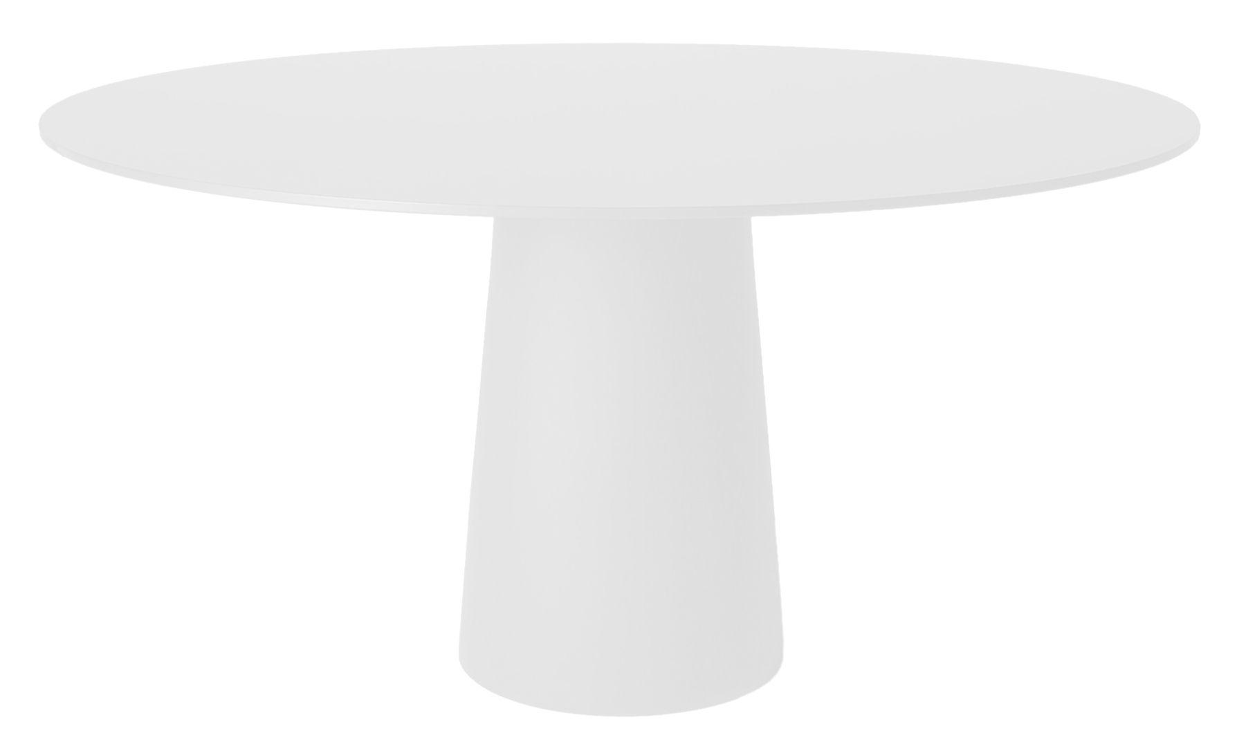 Jardin - Tables de jardin - Pied de table Container / H 70 cm - Pour plateau Ø 140 cm - Moooi - Pied blanc Ø 43 x H 70 cm - Polypropylène