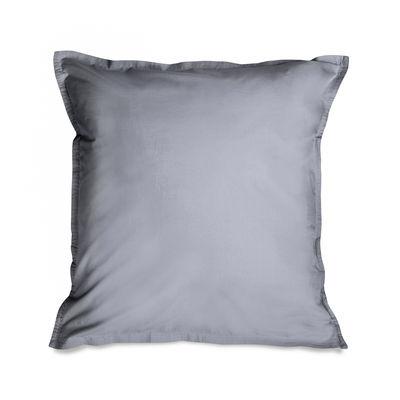 Decoration - Bedding & Bath Towels - pillowcase 65 x 65 cm - / 65 x 65 cm - Washed cotton percale by Au Printemps Paris - Grey - Washed cotton percale