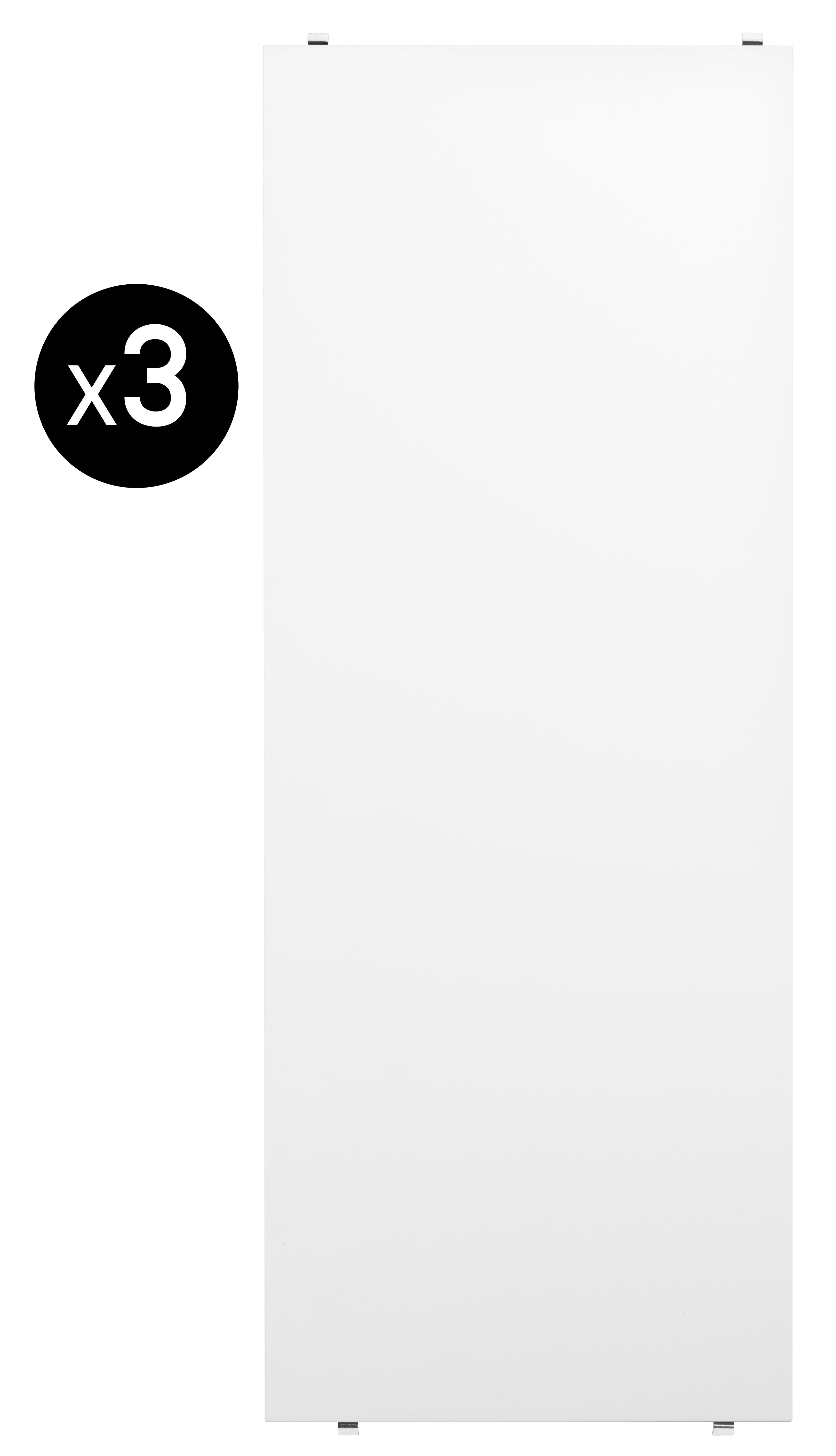Furniture - Bookcases & Bookshelves - String System Shelf - L 78 cm / Set of 3 by String Furniture - White - Lacquered MDF