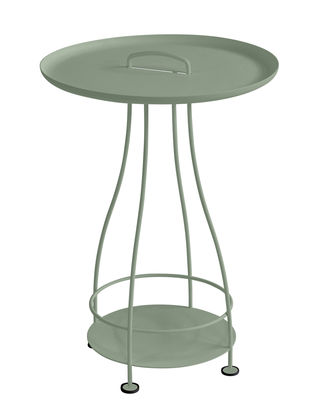 Furniture - Coffee Tables - Happy Hour Small table - Ø 44 x H 64 cm / Removable tray by Fermob - Cactus - Aluminium, Steel