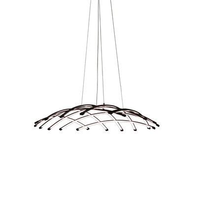 Illuminazione - Lampadari - Sospensione Céleste LED - / Ø 80 cm di Dix Heures Dix - Ø 80 cm / Nero - Alluminio anodizzato