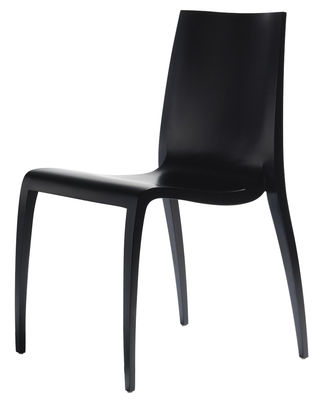 Furniture - Chairs - Ki Stacking chair - Wood by Horm - Black - Laminate, Wood