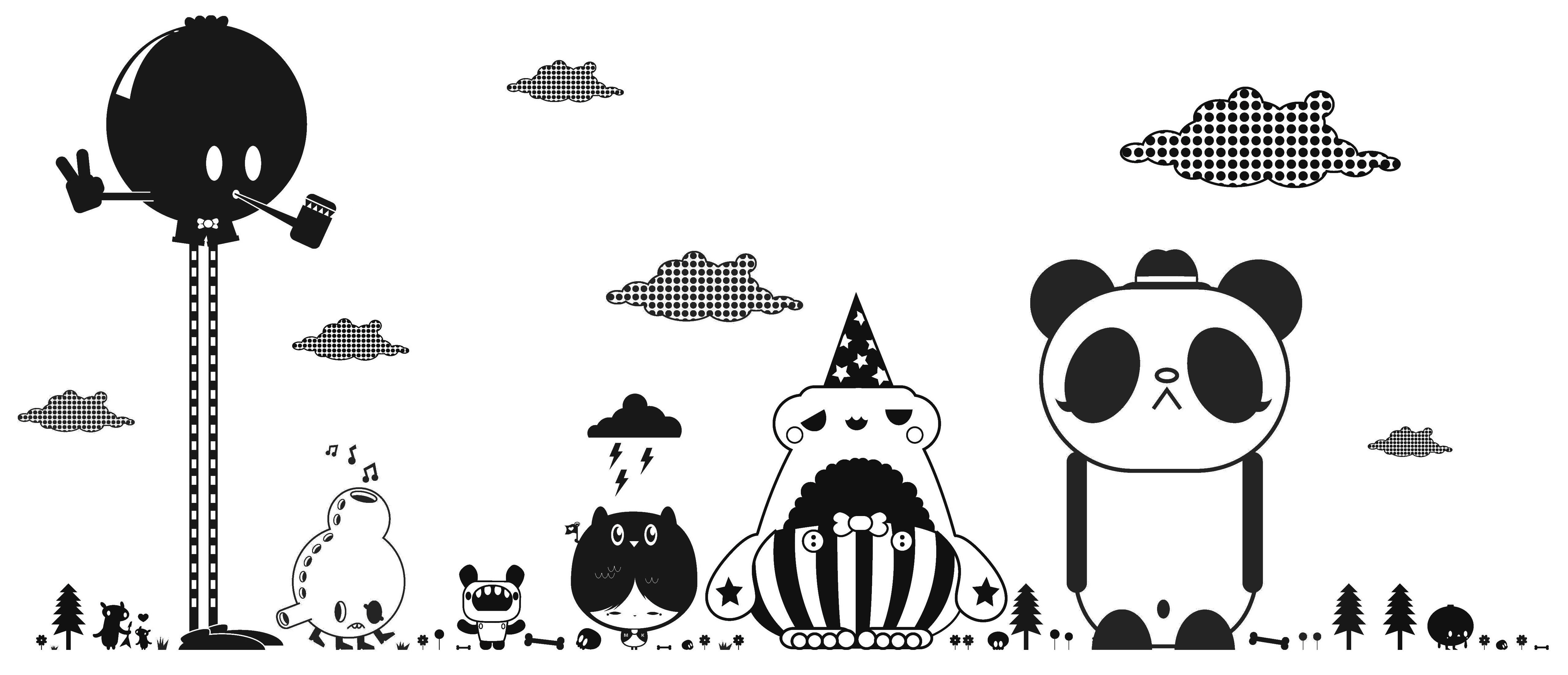 Decoration - Wallpaper & Wall Stickers - Friends 1 Black Sticker by Domestic - Black - Vinal