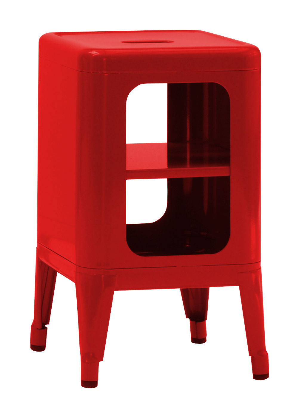 Furniture - Bookcases & Bookshelves - Storage unit - Lacquered steel - H 50 cm by Tolix - Chilli red - Lacquered steel