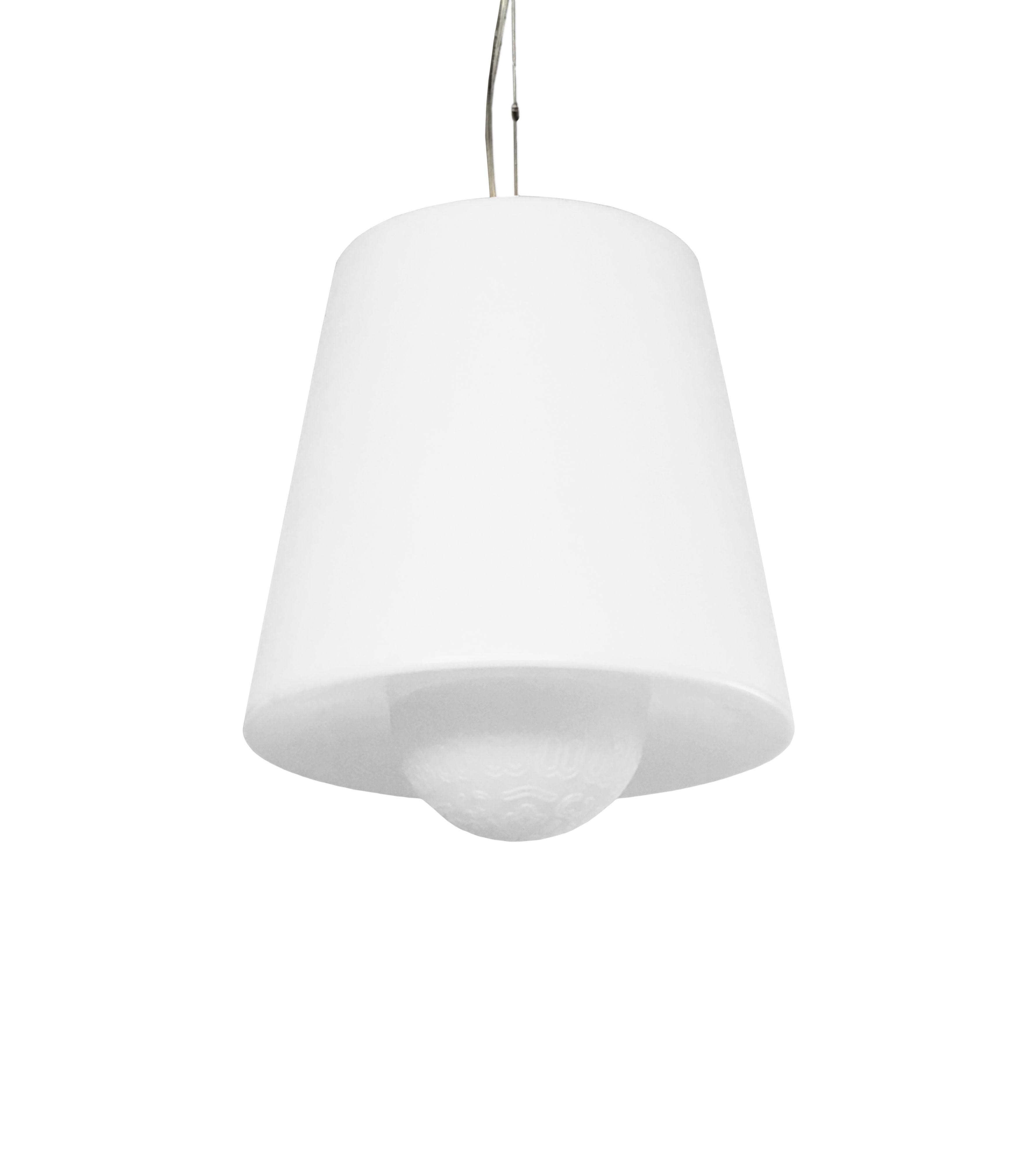 Luminaire - Suspensions - Suspension Ali Baba / Ø 43 x H 47 cm - Slide - Blanc - polyéthène recyclable
