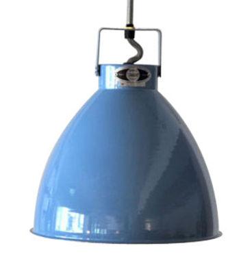 Suspension Augustin Small Ø 16 cm - Jieldé bleu brillant en métal