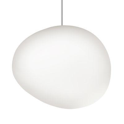 Luminaire - Suspensions - Suspension Gregg Midi LED / Verre - L 21 cm - Foscarini - Blanc - Verre soufflé