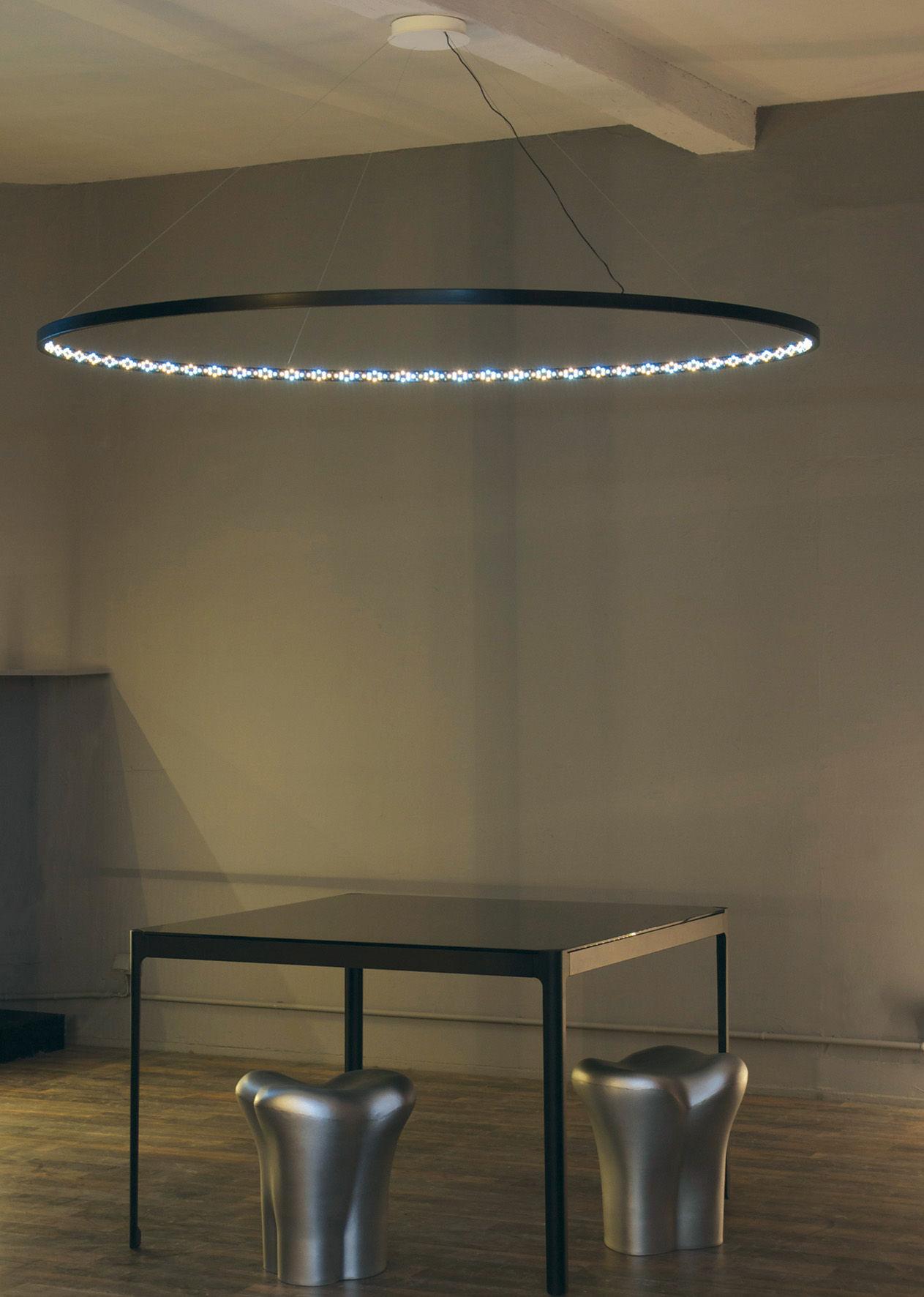 suspension omega led 200 cm blanc le deun. Black Bedroom Furniture Sets. Home Design Ideas