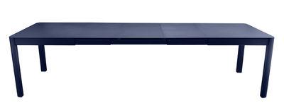 Outdoor - Tables de jardin - Table à rallonge Ribambelle XL / L 149 à 290 - 6 à 14 personnes - Fermob - Bleu Abysse - Aluminium