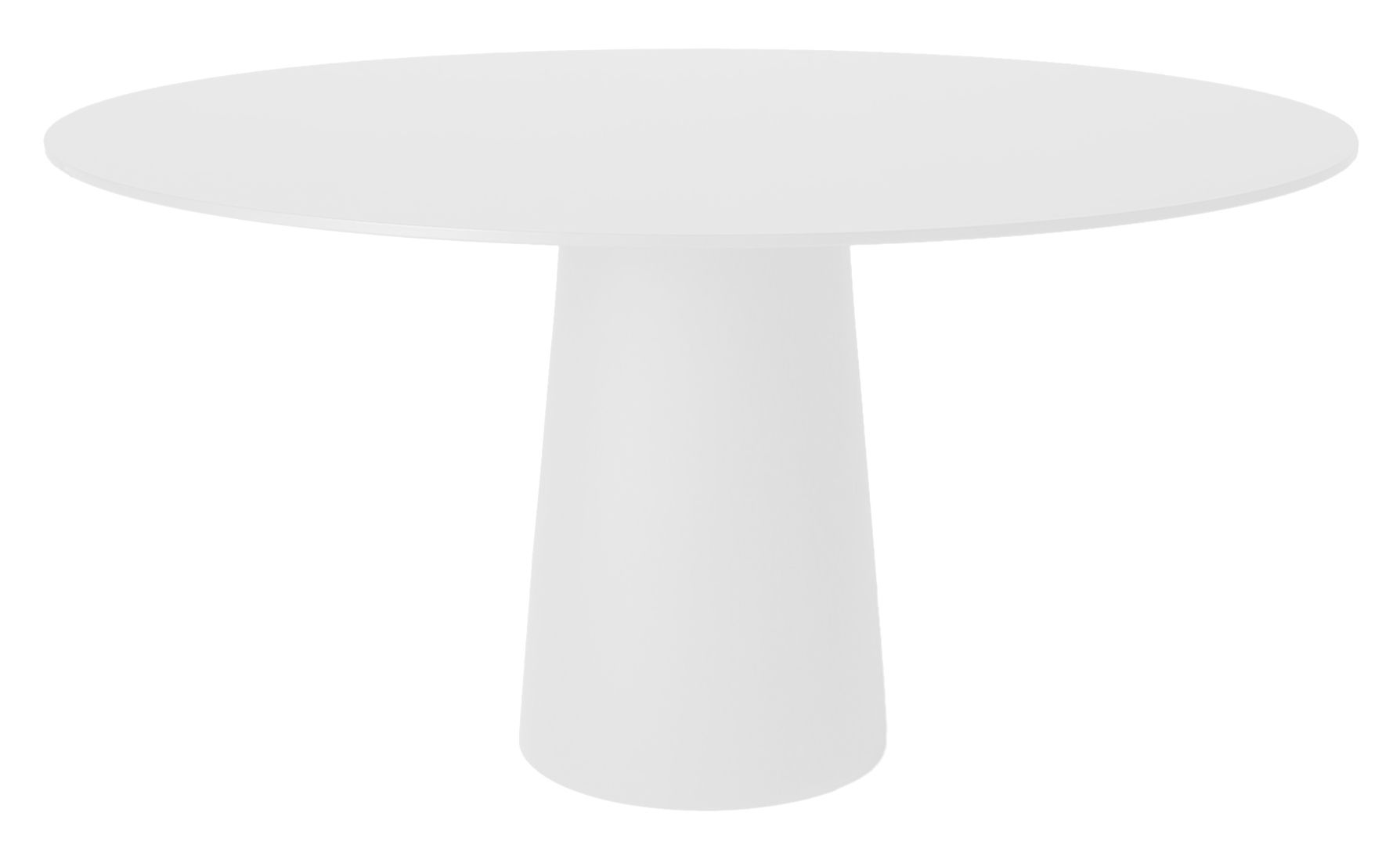 Outdoor - Garden Tables - / Pied pour table Container Table accessory - Ø 43 x H 70 cm - For top Ø 140 cm by Moooi - White foot Ø 43 cm - Polypropylene
