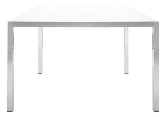 Mobilier - Mobilier d'exception - Table carrée Tense / 150 x 150 cm - Résine acrylique - MDF Italia - 150 x 150 cm - Blanc - Aluminium revêtu de résine