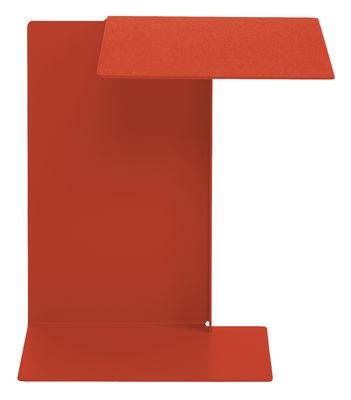 Table d'appoint Diana B Plateau à droite ClassiCon rouge corail en métal