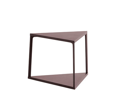 Mobilier - Tables basses - Table d'appoint Eiffel / Triangle - L 52 x H 38 cm - Hay - Brique foncé - Aluminium laqué, MDF laqué