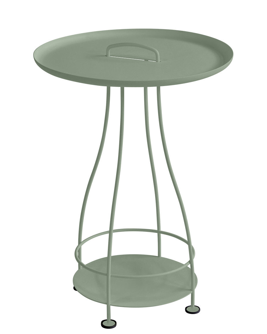 Arredamento - Tavolini  - Tavolino rotondo Happy Hour / Ø 44 x H 64 cm - Top rimovibile - Fermob - Cactus - Acciaio, Alluminio