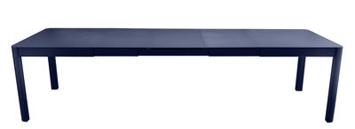 Outdoor - Tavoli  - Tavolo con prolunga Ribambelle XL - / L 149 a 290 - 6 a 14 persone di Fermob - Blu abisso - Alluminio