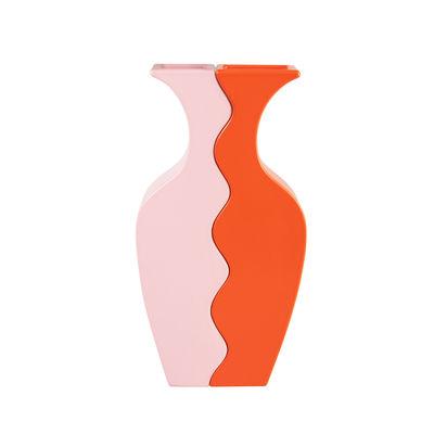 Decoration - Vases - Wave Vase - / Set of 2 interlocking vases by & klevering - Pink & orange - Ceramic