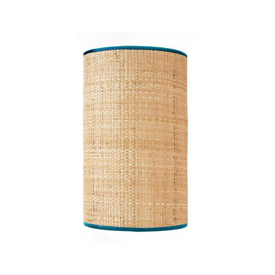 Lighting - Wall Lights - Spérone Wall light - / Raffia - Not electrified by Maison Sarah Lavoine - Sarah blue / Natural - Fabric, Natural rabana