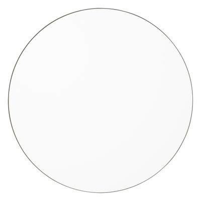 Decoration - Mirrors - Circum Large Wall mirror - / Ø 110 cm by AYTM - Clear / Taupe - Glass, Painted MDF