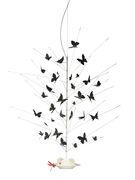 Accessoire / Set de papillons pour suspension Festa delle Farfalle - Ingo Maurer rouge,noir en papier