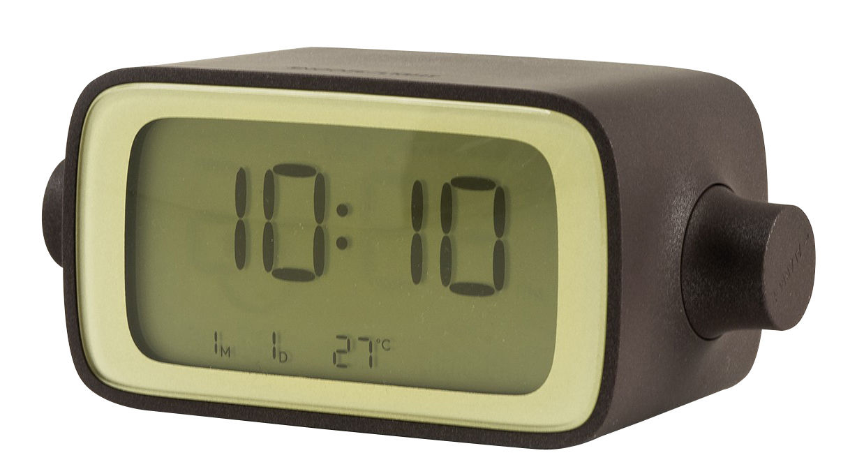 Accessories - Alarm Clocks & Travel Radios - Dream Time Alarm clock - / By  Eugeni Quitllet - By rotating by Lexon - Chocolate - ABS