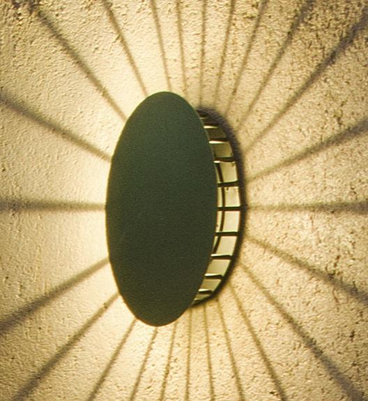 Illuminazione - Lampade da parete - Applique d'esterno Meridiano - LED di Vibia - Verde - metallo laccato, policarbonato