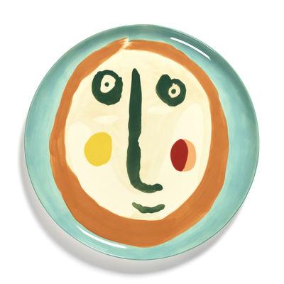Arts de la table - Plateaux et plats de service - Assiette de présentation Feast / Ø 35 x H 2 cm - Serax - Visage 2 / Multicolore - Grès émaillé