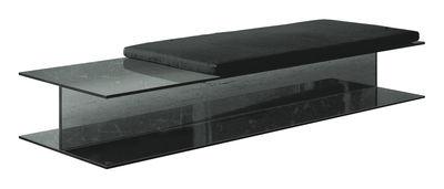 Banc I-Beam / L 140 cm- Verre - Glas Italia gris/noir en verre