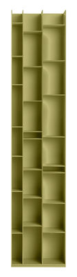 Bibliothèque Random 3C / L 46 x H 217 cm - MDF Italia lichen en bois