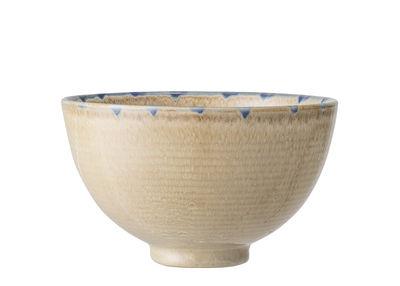 Dekoration - Töpfe und Pflanzen - Nature Blumentopf / Keramik - Ø 15 x H 9 cm - Bloomingville - Beige / Blau - emaillierter Sandstein