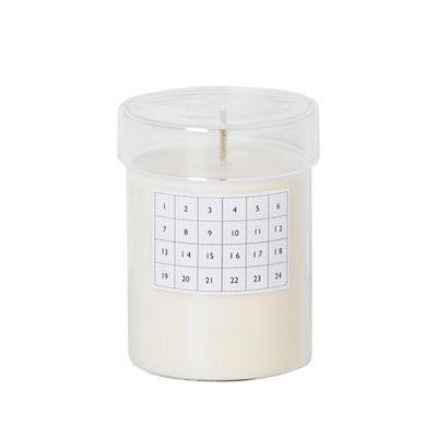 Bougie parfumée Cannelle / Calendrier de Noël - Ferm Living blanc en verre