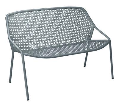 Canapé 2 places Croisette / L 122 cm - Plastique tressé - Fermob gris orage en matière plastique